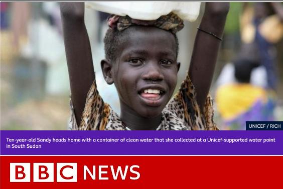 bbc news headline with image of child